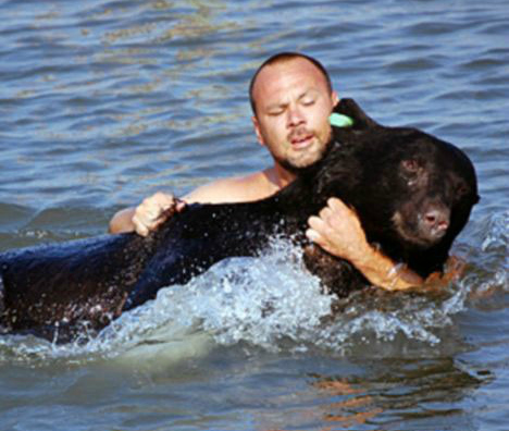 The Most Kind and Badass Man Saves a 375 Pound Wild Bear From Drowning