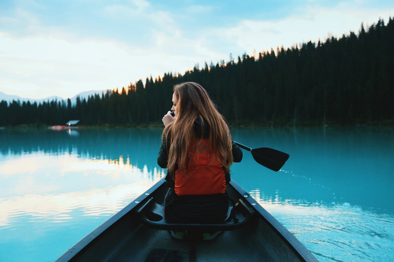 Canoe Blue Lake We Are Wildness